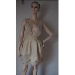 H&M zlatavé nabírané šaty...