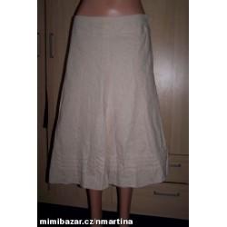 Béžová sukně s podšívkou...