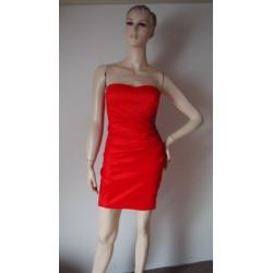 Oranžové pružné šaty AX...