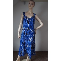 CC modrobílé luxusní šaty...