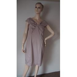 F&F oříškové šaty s...