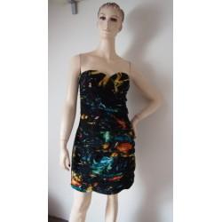 Lipsy řasené černé šaty V.42