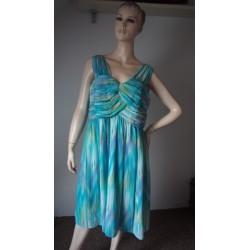 M&Co. akvamarinové šaty V.44