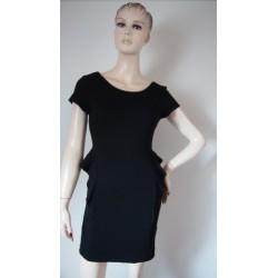 Zara černé peplum šaty V.L