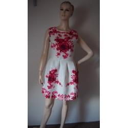 CRFS bílé šaty s růžemi...