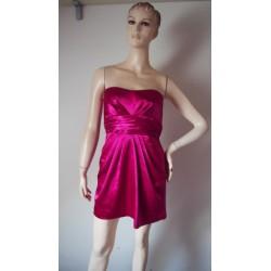 Malinové saténové šaty V.S