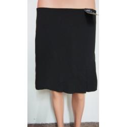Zimní černá sukně se sklady...