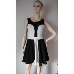 Rebel černobílé šaty V.38 Nové