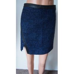 Papaya modrá zimní sukně...
