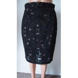 Oasis krajková černá sukně V.L