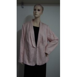 Růžové sako s vetkávaným...