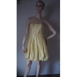 Be beau žluté šaty V.36 Nové !
