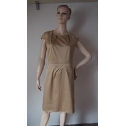 Zlatavé saténové šaty, v.40