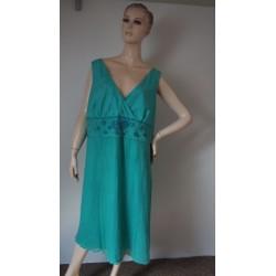 Smaragdové HEDVÁBNÉ šaty...