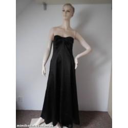 183729547c42 Debut hnědé saténové plesové šaty V. 38-40