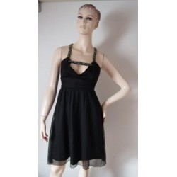 Černé šifonové šaty,...