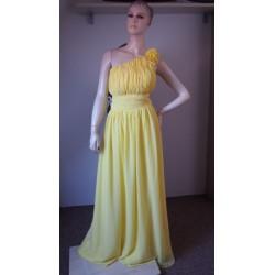 Žluté společenské šaty V.44