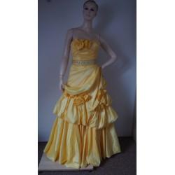 Žluté společenské šaty V.XS