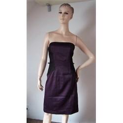 Look fialové šaty s krajkou...