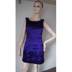 Rage fialové šaty se sklady...