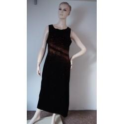 C&A černé sametové šaty s...