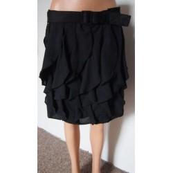 Černá volánková sukně s...