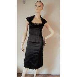 LUX černé korzetové šaty...