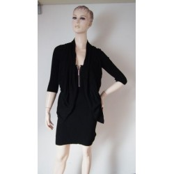Černé pletené šaty KAREN...