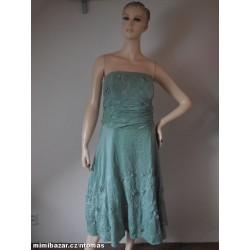 monsoon luxusní zelené šaty...