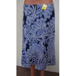 Modrobílá sukně, pružný...