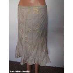 Per una lněná sukně s...
